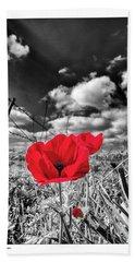 The Red Spot Beach Towel by Arik Baltinester