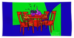 The Red Table Beach Towel