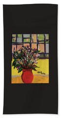 The Red Vase Beach Towel