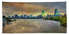 Beach Towel featuring the photograph The Regatta - Head Of The Charles - Boston by Joann Vitali