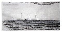 Beach Sheet featuring the drawing The Regatta by J R Seymour