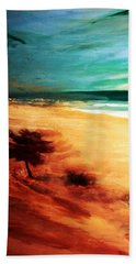 Beach Sheet featuring the painting The Remaining Pine by Winsome Gunning