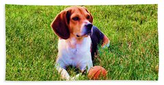 The Reserved Beagle Beach Towel