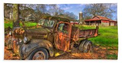 The Resting Place Boswell Farm 1947 Dodge Dump Truck Beach Sheet