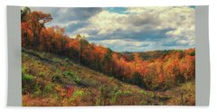 The Ridges Of Southern Ohio In Fall Beach Towel