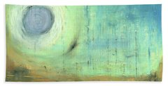 Beach Sheet featuring the painting The Rising Sun by Michal Mitak Mahgerefteh