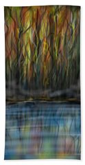Beach Towel featuring the digital art The River Side by Darren Cannell