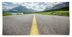 The Road To Glacier Beach Towel