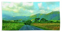Beach Towel featuring the photograph The Road To Te Aroha by Kathy Kelly