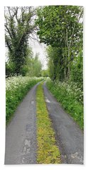 The Road To The Wood Beach Towel by Ethna Gillespie