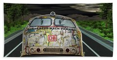 Beach Towel featuring the digital art The Road Trip by Angela Hobbs