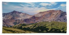 Beach Sheet featuring the photograph The Rockies by Bill Gallagher