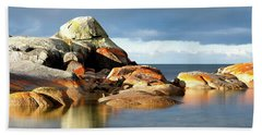 The Rocks And The Water Beach Towel
