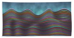 The Rolling Hills Of Subtle Differences Beach Towel