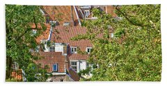 The Rooftops Of Leiden Beach Towel
