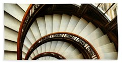 The Rookery Spiral Staircase Beach Towel by Ely Arsha