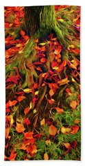 The Root Of Fall Beach Towel