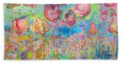 The Rose Garden, Love Wins Beach Towel by Kimberly Santini