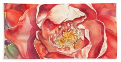 Beach Towel featuring the painting The Rose by Mary Haley-Rocks