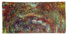 The Rose Path Giverny Beach Towel