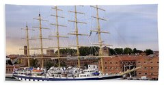 The Royal Clipper Docked In Venice Italy Beach Towel