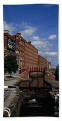 Royal Mills Converted Into Apartments Next To The Rochdale Canal Ancoats New Islington Manchester Beach Towel