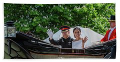 The Royal Wedding Harry Meghan Beach Towel