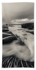 The Rush Of The North Sea Beach Towel