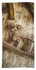 The Rusted Toy Horse Beach Towel