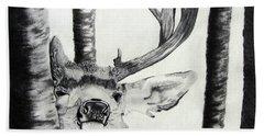 Beach Sheet featuring the drawing The Rutt by Mayhem Mediums