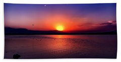 Beach Towel featuring the photograph The Salton Sea by Chris Tarpening