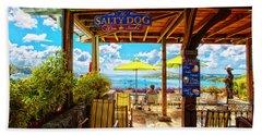 The Salty Dog Cafe St. Thomas Beach Towel