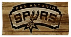 The San Antonio Spurs 3c Beach Towel by Brian Reaves