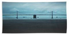 The San Francisco - Oakland Bay Bridge Beach Towel