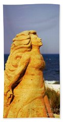 Beach Sheet featuring the photograph The Sand Sculpture by Bob Pardue