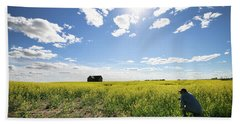 The Saskatchewan Prairies Beach Towel