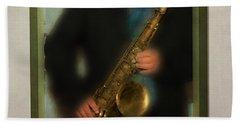 The Sax Player Beach Sheet