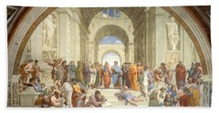 The School Of Athens, Raphael Beach Sheet by Science Source