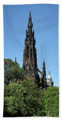 Beach Towel featuring the photograph The Scott Monument In Edinburgh, Scotland by Jeremy Lavender Photography