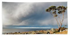 The Sea And The Sky Beach Towel