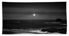 The Sea By Night Beach Towel by Martina Fagan