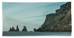 The Sea Stacks Of Vik, Iceland Beach Towel