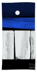 The Seawalls No.4 Full Moon Rising Beach Towel