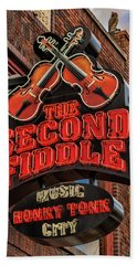 Beach Towel featuring the photograph The Second Fiddle Nashville by Stephen Stookey