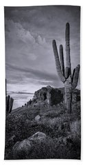 Beach Sheet featuring the photograph The Sentinels Of The Supes In Black And White  by Saija Lehtonen
