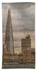 London, England - The Shard Beach Towel