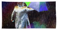 Beach Towel featuring the photograph The Sheer Joy Of Puddles by LemonArt Photography
