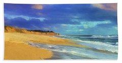 The Shoreline At Half Moon Bay Beach Towel