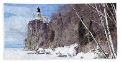 The Shoreline Lighthouse Beach Towel