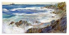 The Shores Of Falmouth Beach Towel
